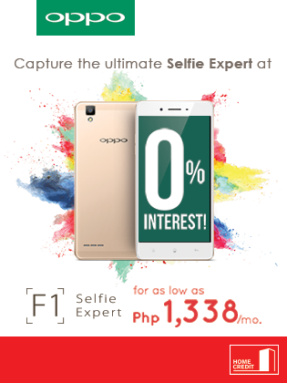 Oppo F1 at 0 interest Home Credit